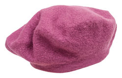 Handmade felt beret isolated on white Stock Photo