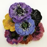 Handmade felt, flowers royalty free stock images