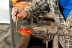 Handmade figures of melted glass Stock Images