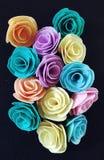 Handmade filc kwiaty obraz royalty free