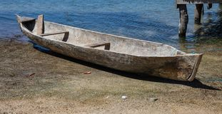 Carved out boat royalty free stock photography