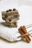 Handmade flavored soap bars Stock Photography