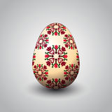 Handmade floral and foliage easter egg  Royalty Free Stock Image