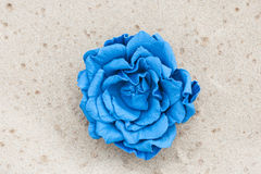 Handmade flower color leather brooch.  Stock Photography