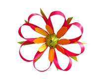 Handmade flower from palm leaves Royalty Free Stock Photography