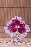 Handmade flower quilling paper craft,hobby practise. Stock Images