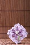 Handmade flower quilling paper craft,hobby practise. Stock Image
