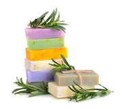 Handmade flower soaps Stock Photography