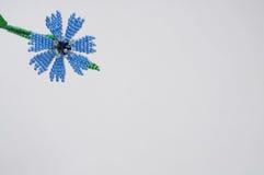 Handmade flower. Three handmade flowers on white background stock images