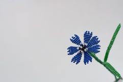 Handmade flower. Three handmade flowers on white background stock photo