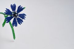 Handmade flower. Three handmade flowers on white background stock photography