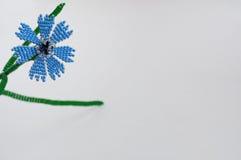 Handmade flower. Three handmade flowers on white background stock image