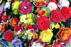 Handmade flowers background Royalty Free Stock Photos