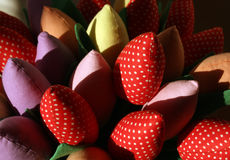 Handmade flowers. Royalty Free Stock Photo