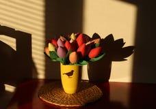 Handmade flowers. Royalty Free Stock Image