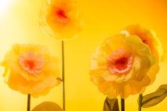Handmade flowers Stock Image