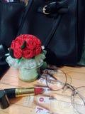 Handmade flowers stock photo