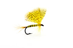 Handmade fly fishing hook Royalty Free Stock Photos