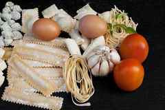 Handmade fresh pasta Stock Images