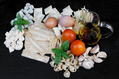 Handmade fresh pasta Royalty Free Stock Photography