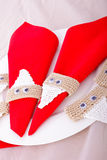 Christmas napkin holder Stock Photography