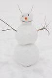 Handmade funny snowman Stock Photography
