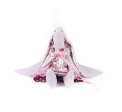 Handmade funny toy rabbit. Royalty Free Stock Photos