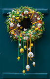 Handmade garland for easter, outside on the door, Prague Royalty Free Stock Images