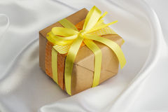 Handmade gift box Royalty Free Stock Images
