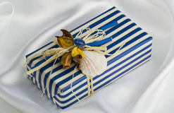 Handmade gift box Stock Photos