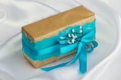 Handmade gift box Royalty Free Stock Images