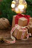 Handmade gift boxe Stock Photos
