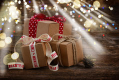 Handmade gift boxes Stock Photography