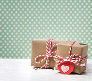 Handmade gift boxes Royalty Free Stock Photo