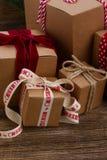 Handmade gift boxes Stock Image