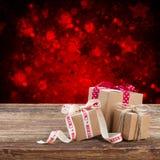 Handmade gift boxes Stock Photos