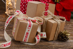 Handmade gift boxes Royalty Free Stock Image