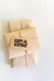 Handmade gift with Happy Birthday card, Celebration congratulati Stock Photography
