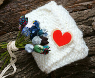 Handmade gift, special day, wintertime, knit, scarf Stock Images
