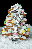 Handmade gingerbread Christmas tree Royalty Free Stock Photo