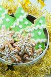 Handmade gingerbread gift Stock Image