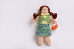Handmade girl doll Stock Photography