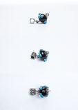 Handmade glass black beads Royalty Free Stock Photography