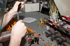 Handmade glass creative handwork glass figurines Royalty Free Stock Image