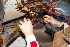 Handmade glass creative handwork glass figurines Stock Image
