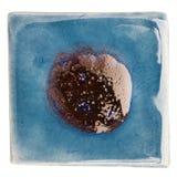 Handmade glazed ceramic tile Royalty Free Stock Photo
