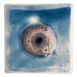 Handmade glazed ceramic tile Stock Photos