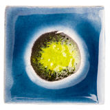 Handmade glazed ceramic tile Royalty Free Stock Images