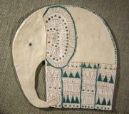 Handmade gliniany słoń Fotografia Stock