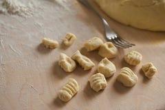 Handmade gnocchi Stock Photography